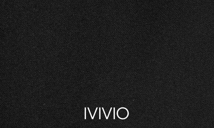 엠비오(MVIO) [MA:SIL] 블랙 테이퍼드 노턱 슬랙스