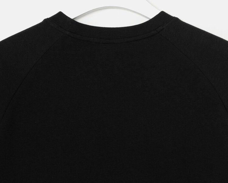 엠비오(MVIO) 블랙 세미오버 반팔 스웨트셔츠