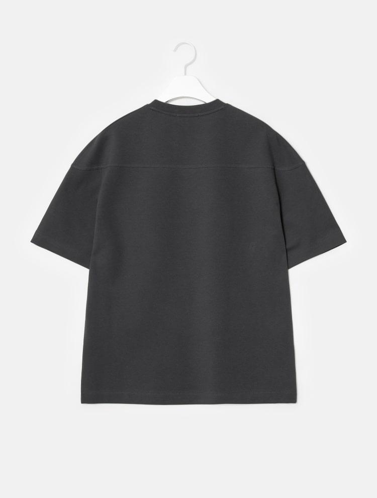 엠비오(MVIO) 애쉬 절개 라운드 세미오버 티셔츠