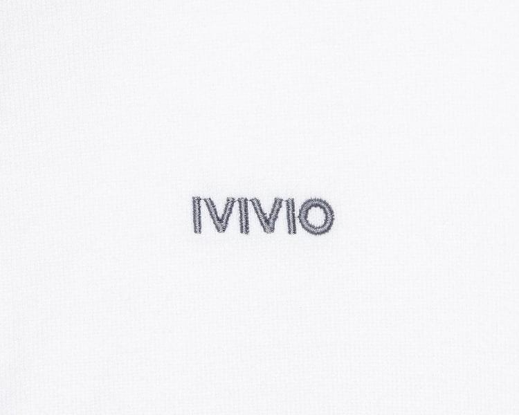 엠비오(MVIO) [MA:SIL] 화이트 프리미엄 코튼 로고 엠브로이더리 반팔 티셔츠