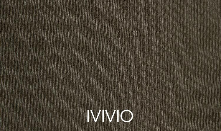 엠비오(MVIO) 브라운 원턱 테이퍼드 팬츠
