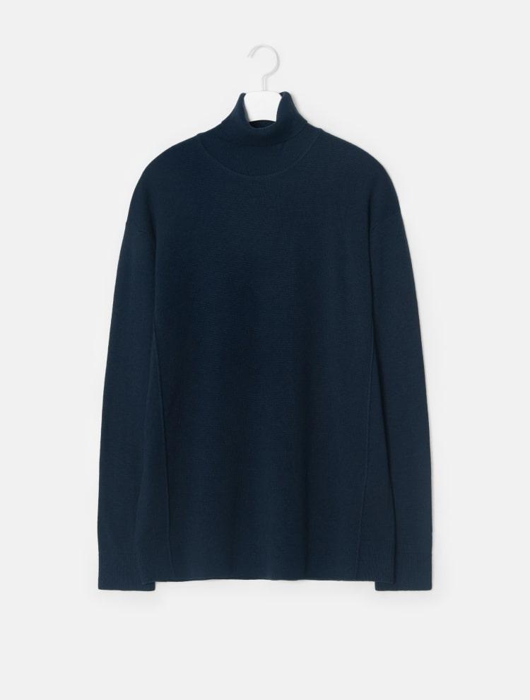 엠비오(MVIO) 그레이 캐시미어 혼방 터틀넥 스웨터