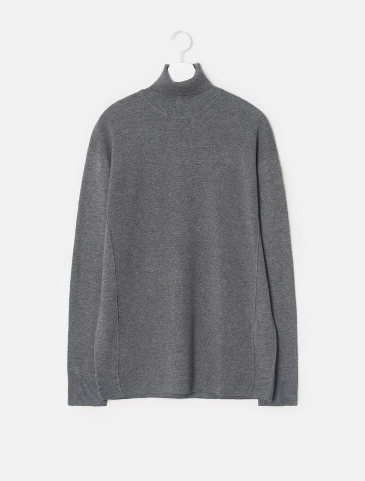 엠비오(MVIO) 블랙 캐시미어 혼방 터틀넥 스웨터