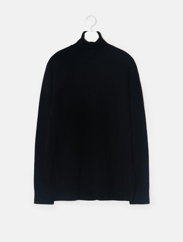 엠비오(MVIO) 블루 캐시미어 혼방 터틀넥 스웨터