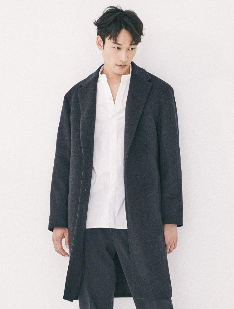 엠비오(MVIO) [MA:SIL] 애쉬 캐시미어 싱글 코트