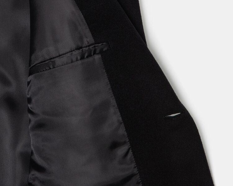 엠비오(MVIO) [MA:SIL] 블랙 캐시미어 싱글 코트