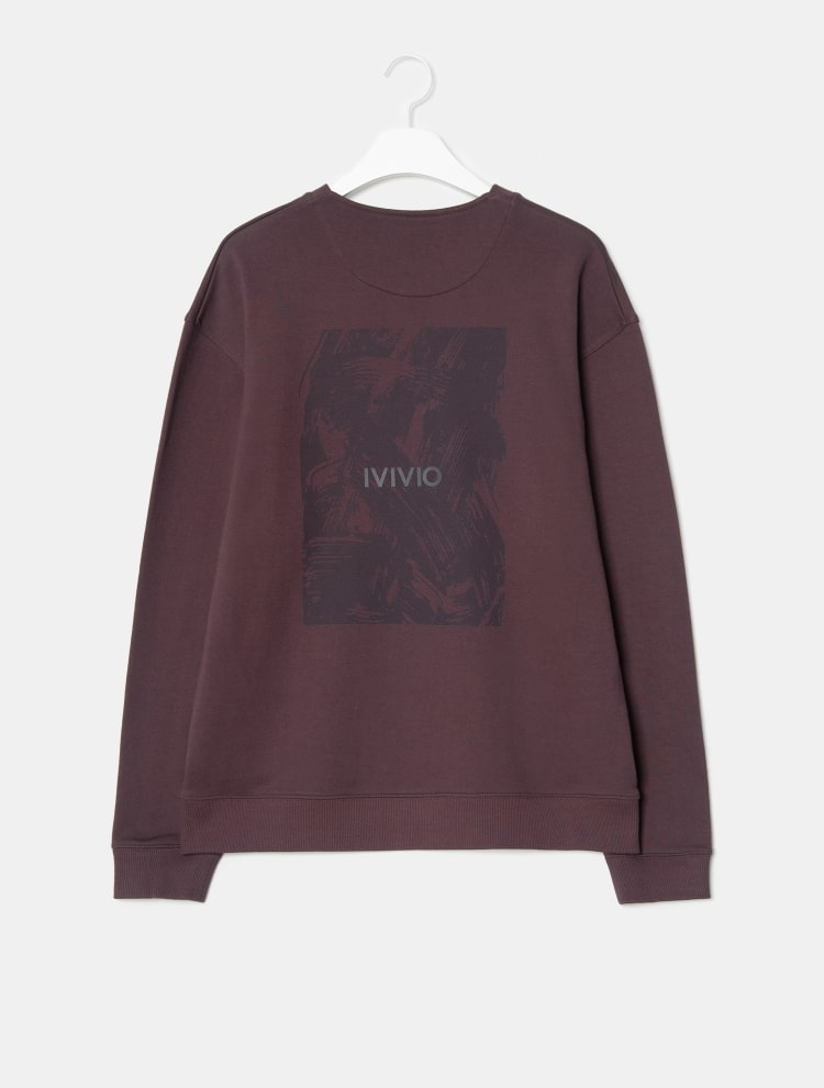 엠비오(MVIO) 퍼플 로고프린트 스웨트셔츠