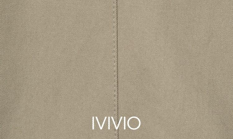 엠비오(MVIO) 베이지 싱글 세미오버 트렌치 코트