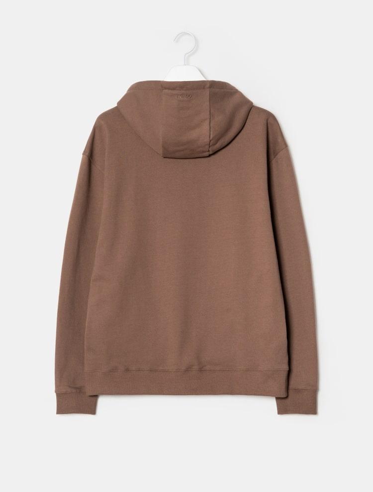 엠비오(MVIO) 인디핑크 스냅 버튼 후드 티셔츠