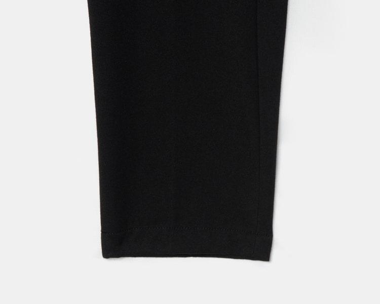 엠비오(MVIO) [MA:SIL] 블랙 기모 테이퍼드 노턱 슬랙스