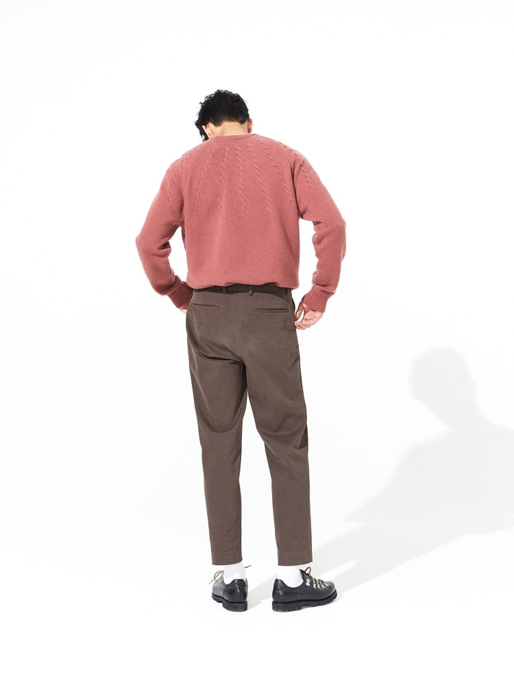 엠비오(MVIO) 핑크 케이블 조직 라운드 스웨터