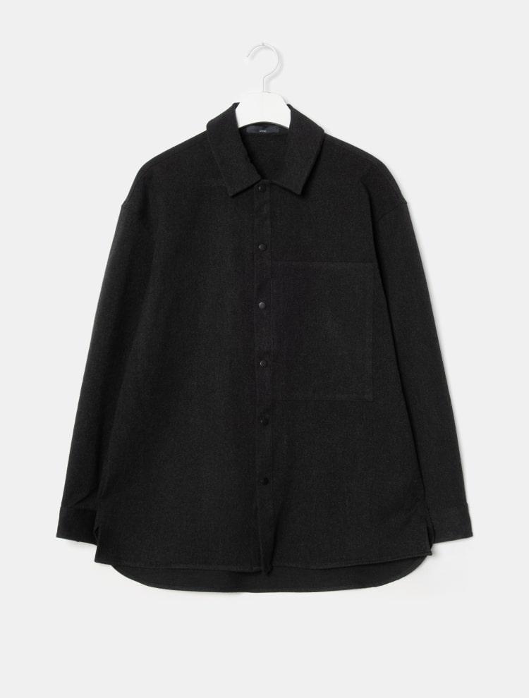 엠비오(MVIO) 애쉬 폴리혼방 세미오버 아우터형 셔츠