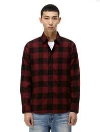 블럭체크 패턴 셔츠
