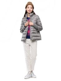 립슬리브 숏 다운 자켓