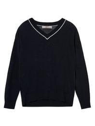 [DAILY SWEATER]실크 블랜디드 브이넥라인 스웨터