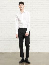 슬림 핏 솔리드 버튼다운 셔츠