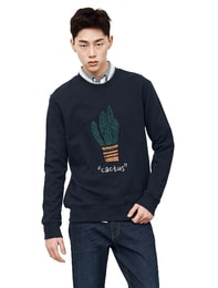 cactus 자수 스웨트 셔츠