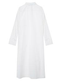 사이드 슬릿 하프버튼 롱 셔츠