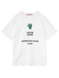 콘 화이트 티셔츠