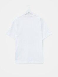 화이트 해변 포토 티셔츠