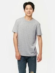 라이트 그레이 베이직 코튼 티셔츠