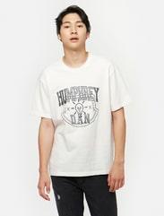 화이트 레트로 그래픽 티셔츠