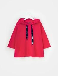 [배달의민족]핑크 삐딱하게 후드 티셔츠