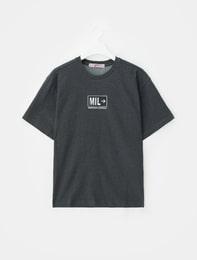 그레이 MIL 멜란지 티셔츠