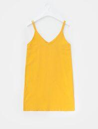 머스터드 슬립 드레스