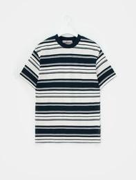 네이비 스트라이프 티셔츠