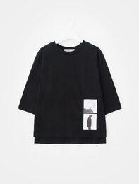 [8 X 지디스픽] 블랙 프린트 티셔츠_ G-Dragon GD 지디 콜라보