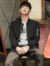 [8 X 지디스픽]블랙 인조 스웨이드 블루종_ G-Dragon GD 지드래곤 콜라보