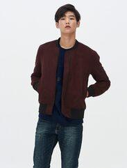 [8 X 지디스픽]와인 인조 스웨이드 블루종_ G-Dragon GD 지드래곤 콜라보