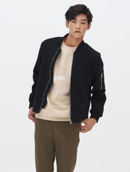 [8 X 지디스픽] 블랙 코튼 솔리드 블루종_ G-Dragon GD 지드래곤 콜라보