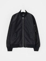 [노나곤]블랙 MA-1 봄버 점퍼