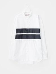 화이트 옥스포드 스트라이프 셔츠
