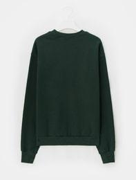[에잇몬]그린 그렉 프린트 스웨트 셔츠