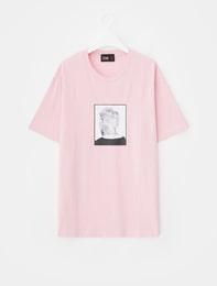[8 X 지드래곤] 핑크 프린트 티셔츠_ G-Dragon GD 지디 콜라보