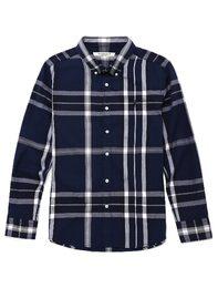 [SLIM]블루 헤링본 빅 헤릿 체크 셔츠