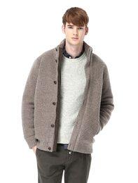 브라운 다운 아우터형 스웨터