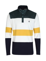[CLASSIC] 남성 아이보리 컬러배색 기모 티셔츠