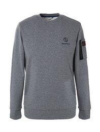 그레이 남성 베이직 맨투맨 티셔츠