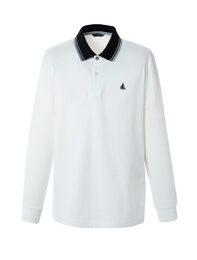 [CLASSIC] 남성 화이트 텍스쳐 포인트 티셔츠