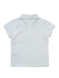 화이트 베이직 반팔 피케 티셔츠