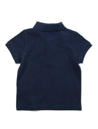 네이비 베이직 반팔 피케 티셔츠
