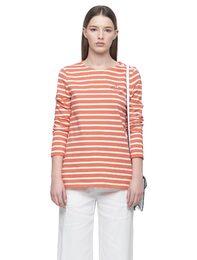 오렌지 스트라이프 티셔츠