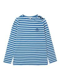 블루 스트라이프 티셔츠