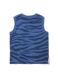 [로스트 밸리] 로열 블루 지브라 패턴 민소매 티셔츠