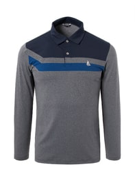 남성 라이트 그레이 컬러블록 티셔츠