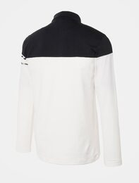 [THE OPEN] 남성 화이트 배색 반집업 티셔츠